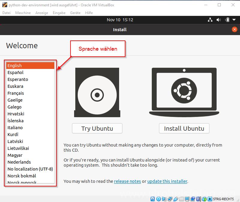 Ubuntu installieren