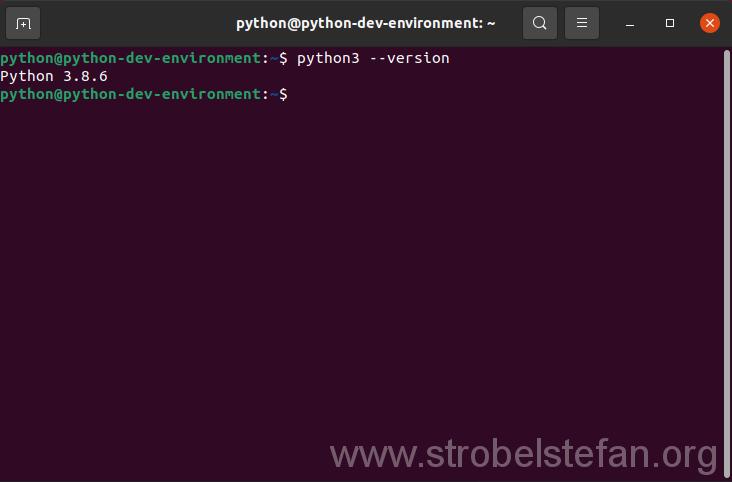 Anzeige der installierten Python Version
