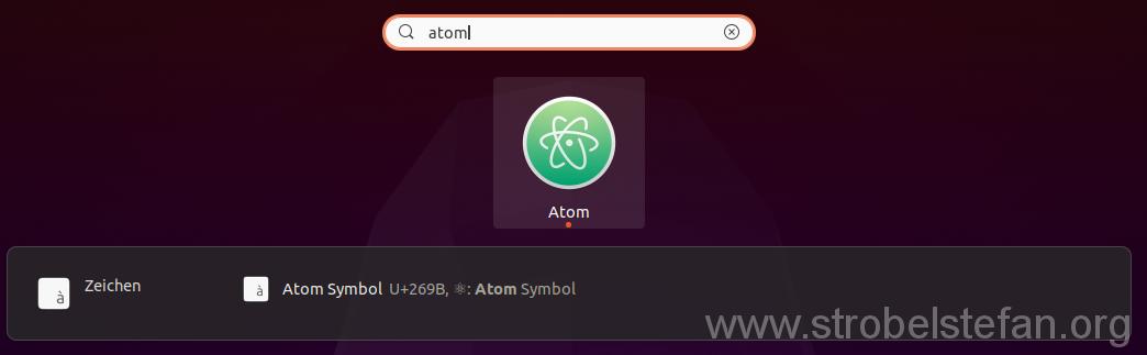 Atom starten
