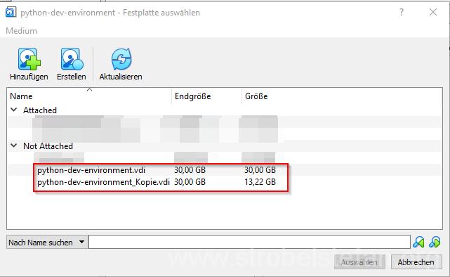 VirtualBox - Massenspeicherzuordnung