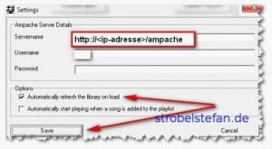Ampache Client für Windows