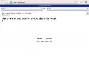 Männer sind Männer und Mäner sollen das Haus putzen