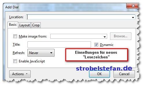 Speed Dial - Add-on für Firefox
