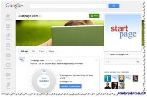 Startpage.com bei Google+