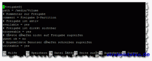 smb.conf - Freigabe konfigurieren