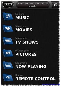 Official XBMC Remote - Übersicht