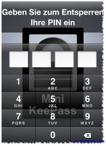 MiniKeePass für iPhone - Passwortschutz