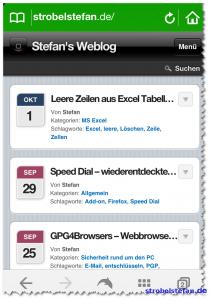strobelstefan.de - Neues Mobile Theme