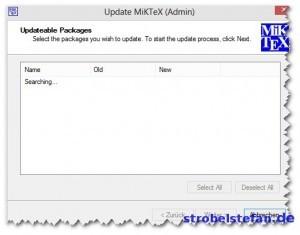 MikTeX - Updates suchen