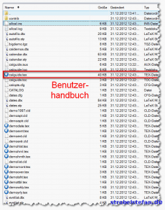 calendar - Benutzerhandbuch
