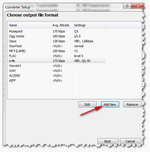 foobar2000 - Converter anlegen