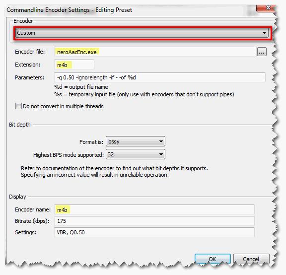 foobar2000 - Converter konfigurieren