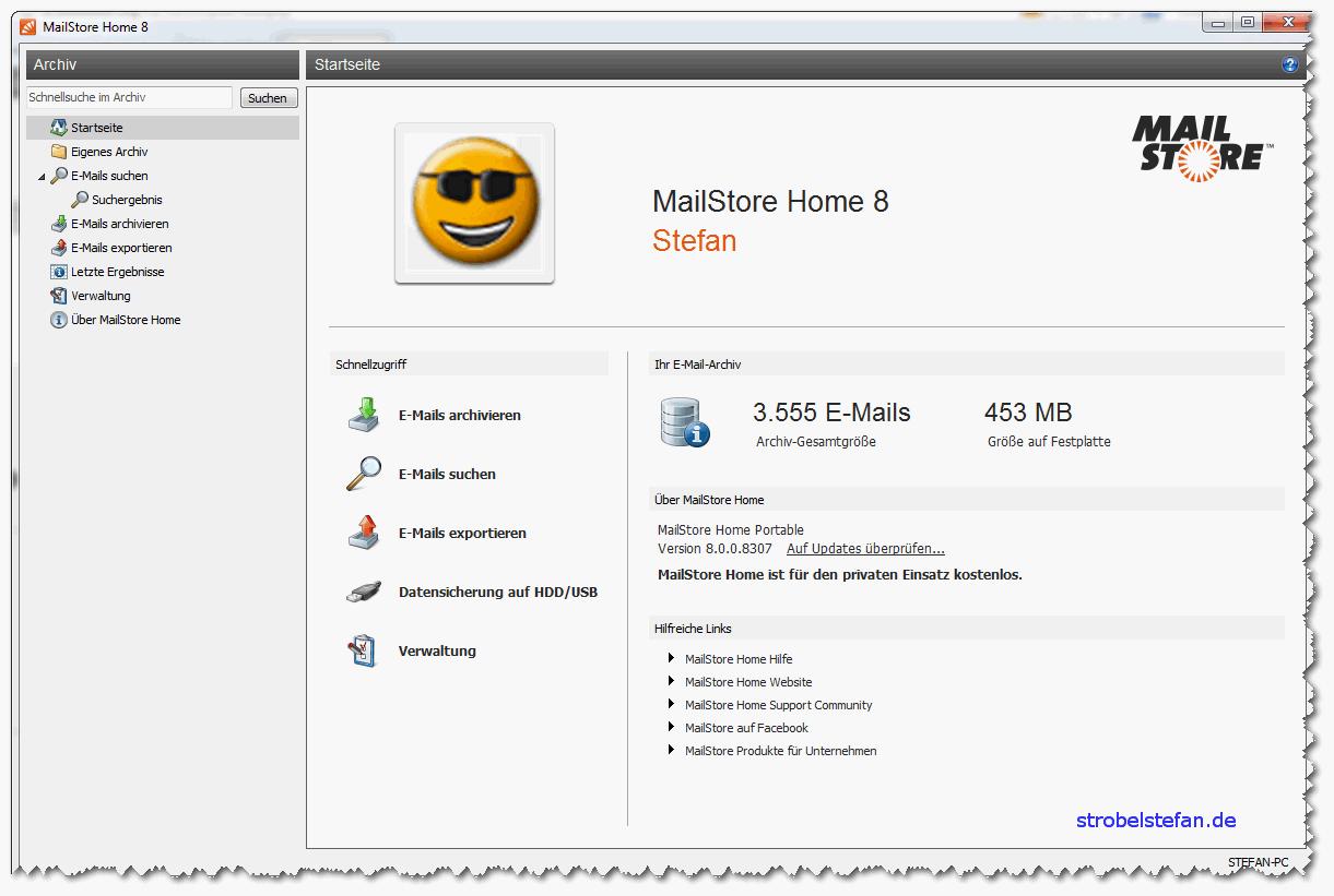 MailStore - Übersicht