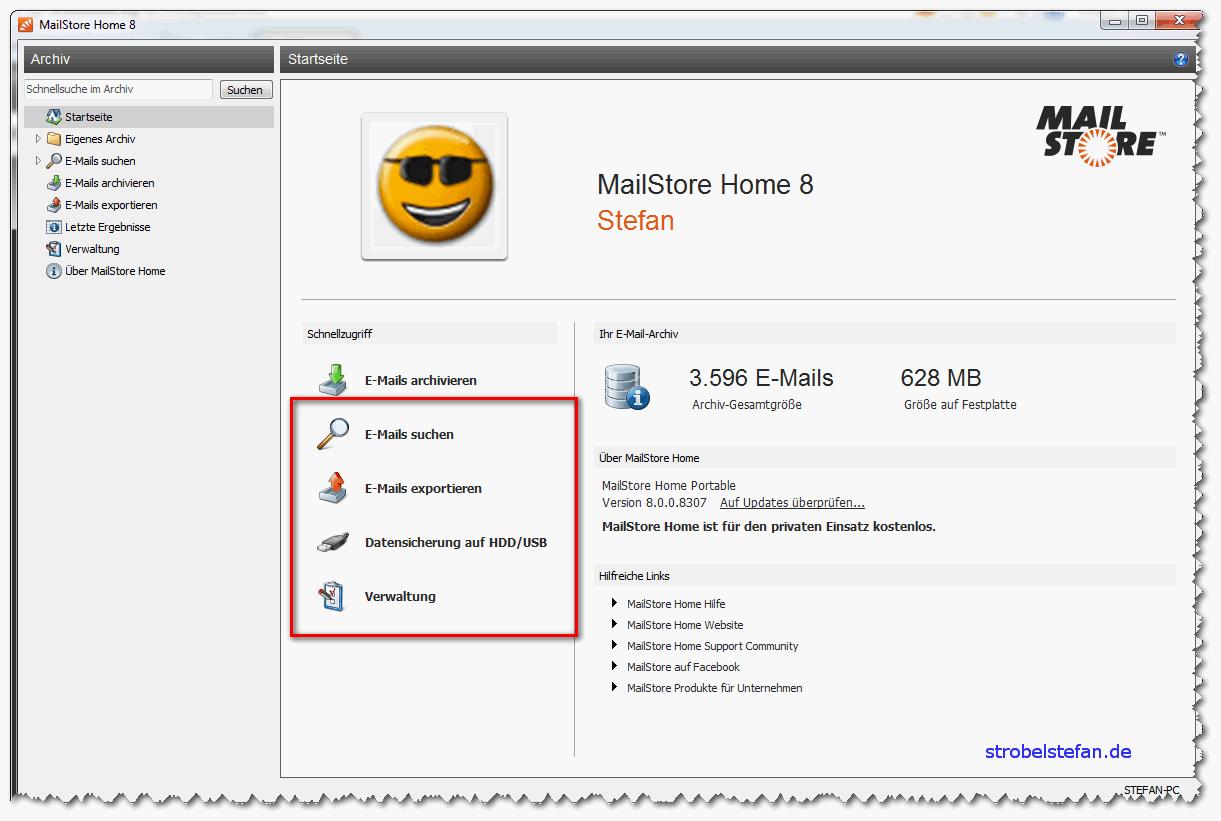 MailStore - Funktionen