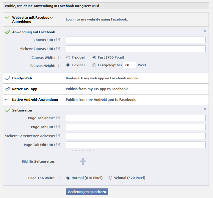 Entwicklung Facebook App