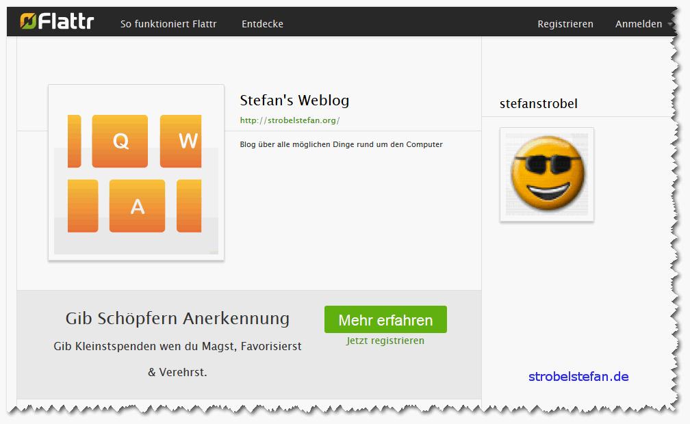 Flattr this! - strobelstefan.de auf Flattr