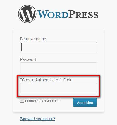 Wordpress mit Zwei-Faktor-Authentifizierung