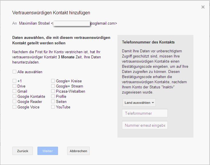 Digitale Nachlasverwaltung bei Google