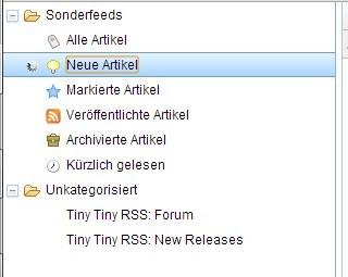 Tiny Tiny RSS - manuelles Update