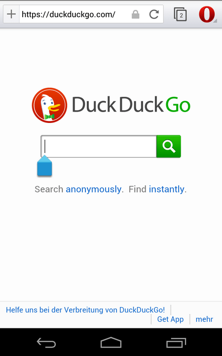 DuckDuckGo in Opera