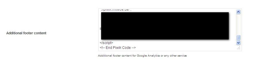 Piwik - Tracking Code