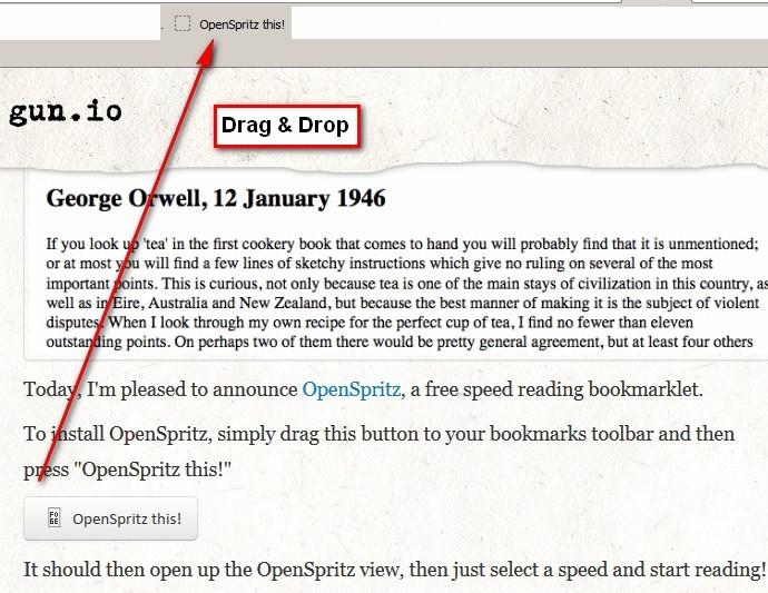 OpenSpritz in die lesezeichenleiste eures Browsers verschieben