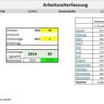 Arbeitszeiterfassungstemplate für Excel
