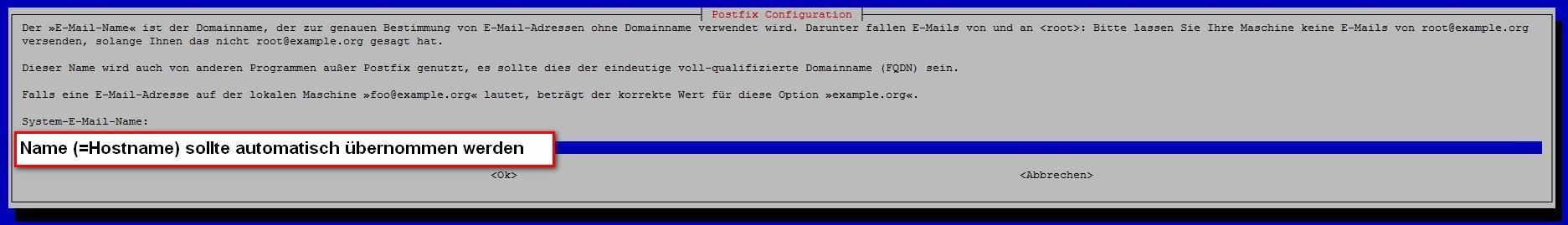 postfix-Konfiguration