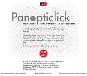 Panopticlick - How Unique Is Your Web Browser?