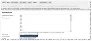 TablePress - Exportfunktion