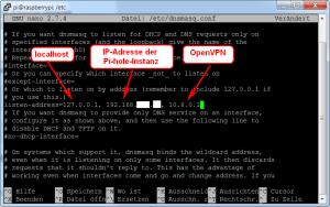 OpenVPN - dnsmasq anpassen