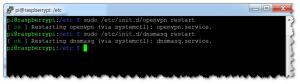 OpenVPN - Dienste neustarten