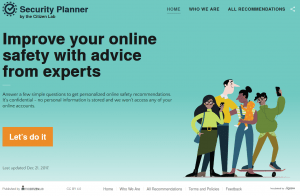 Security Planner by the Citizen Lab