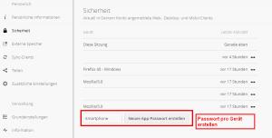 Nextcloud - App-Passwort
