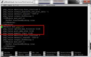 die php-speichergrenze liegt unterhalb des empfohlenen wertes von 512mb. nextcloud