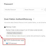 Nextcloud und die Zwei-Faktor-Authentifizierung