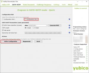 YubiKey OATH-HOTP