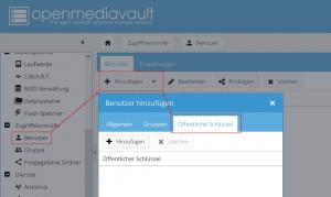 openmediavault - Benutzerverwaltung