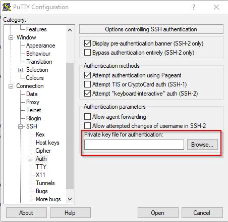 PuTTY - Öffentlichen SSH-Schlüssel einfügen