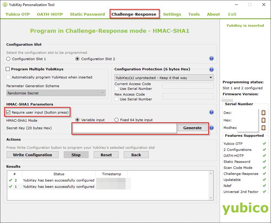 YubiKey Personalization Tool