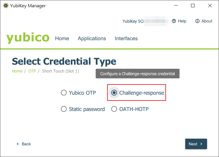 Select Credential Type