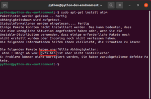 Atom Installation aus Package Repository