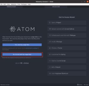 Atom - Telemetry Consent