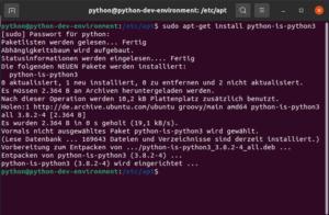 python-is-python3 installieren