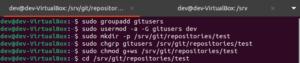 Git - Verzeichnis und Rechte