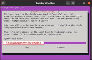 Postfix konfigurieren
