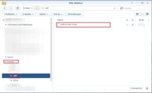 File Station - authorized_keys