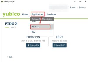 FIDO2 PIN