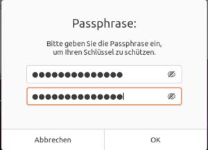 Passwortänderung