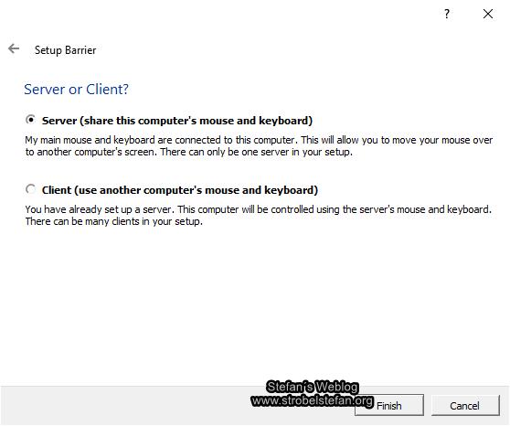 Barrier - Server oder Client